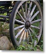 Antique Wagon Wheel  Metal Print