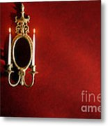Antique Wall Sconce Metal Print