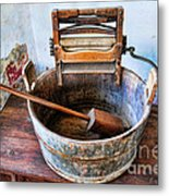 Antique Washing Machine Metal Print