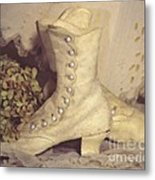 Antique Wedding Shoes Metal Print