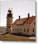 Antique West Quoddy Lighthouse Metal Print