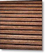 Antique Wood Texture Metal Print