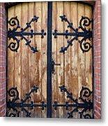 Antique Wooden Door Metal Print
