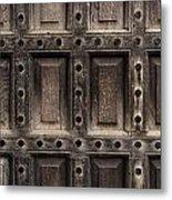 Antique Wooden Door Closeup Metal Print