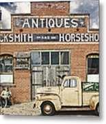 Antiques Blacksmith And Horseshoer Metal Print