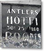 Antler's Hotel Front Door Ghost Town Victor Colorado 1971 1971-2013 Metal Print
