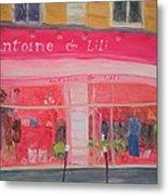 Antoine & Lili, 2010 Oil On Canvas Metal Print