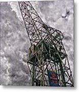 Antwerp Crane Metal Print