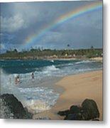Anuenue - Aloha Mai E Hookipa Beach Maui Hawaii Metal Print