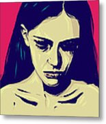 Anxiety Metal Print by Giuseppe Cristiano