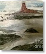 Anxious  Arrival Metal Print by Sherry Clarke