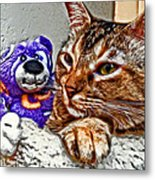 Anya And Friend Metal Print