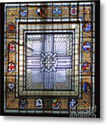 Anzac Day 2014 Auckland War Memorial Museum Stained Glass Roof Metal Print