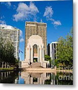Anzac Memorial And Pool Of Reflection Metal Print