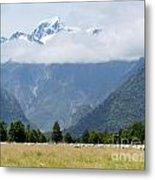 Aoraki Mt Cook Highest Peak Of Southern Alps Nz Metal Print