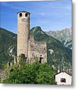 Aosta Valley - Chatelard Ruins Metal Print