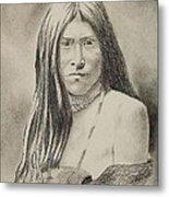 Apache Girl 1906 Metal Print