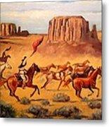 Apache Horse Hunters Metal Print