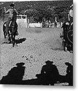Apache Roping Cow Labor Day Rodeo White River Arizona 1969 Metal Print
