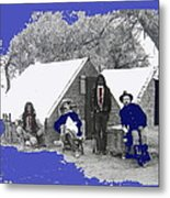 Apache Scouts Soldiers Living Quarters Location And Date Unknown  Metal Print