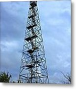 Apalachee Fire Tower In Morgan County Metal Print