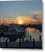 Apalachicola Marina At Sunset Metal Print