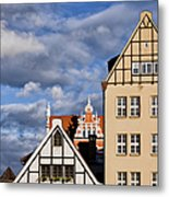 Apartment Houses In Gdansk Metal Print