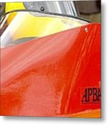 Apba Boat And Helmet 24291 Metal Print