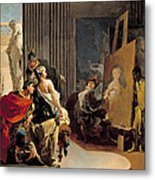 Apelles Painting The Portrait Of Campaspe Metal Print