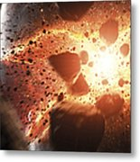 Apocalyptic Space Scene With An Metal Print
