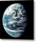 Apollo 11 Image Of Earth Showing Pacific Ocean Metal Print