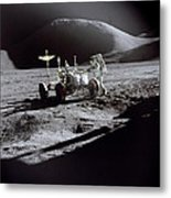 Apollo 15 Lunar Rover Metal Print