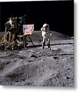 Apollo 16 Lunar Landing Astronaut Young Metal Print