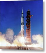 Apollo 8 Launch Metal Print