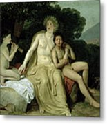 Apollo With Hyacinthus And Cyparissus Singing And Playing, 1831-34 Oil On Canvas Metal Print