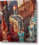 Apothecary - A Series Of Bottles Metal Print