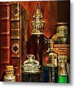 Apothecary - Vintage Jars And Potions Metal Print