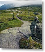 Appalachian Trail Mountain Path Saddleback Maine Metal Print
