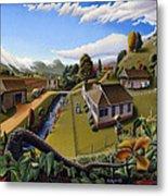 Appalachia Summer Farming Landscape - Appalachian Country Farm Life Scene - Rural Americana Metal Print