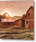 Appalachian Barns Metal Print