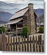 Appalachian Mountain Cabin Metal Print by Randall Nyhof