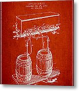 Apparatus For Beer Patent From 1900 - Red Metal Print