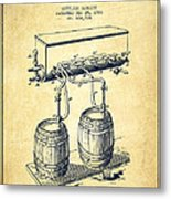 Apparatus For Beer Patent From 1900 - Vintage Metal Print
