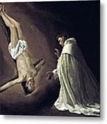 Apparition Of Apostle Saint Peter To Saint Peter Nolasco Metal Print