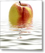Apple Afloat Metal Print