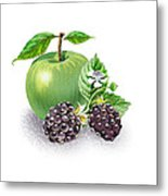 Apple And Blackberries Metal Print