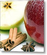 Apple And Cinnamon Metal Print