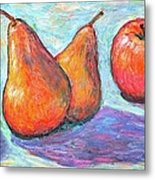 Apple And Pear Twirl Metal Print