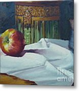 Apple And Pottery Metal Print