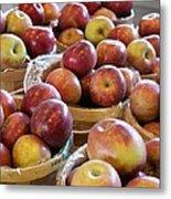 Apple Baskets Metal Print
